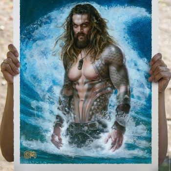 Aquaman: Permission to Come Aboard Fine Art Print by Olivia De Berardinis