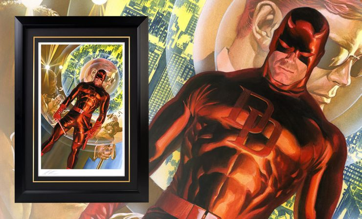 Daredevil: The Man Without Fear FRAMED Fine Art Lithograph
