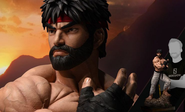 Sideshow Spectacular Deals- Battle Version Ryu Statue