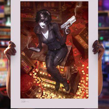 Domino: Luck Be a Lady Fine Art Print by Alex Garner