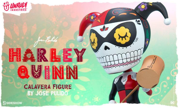Unruly Industries Harley Quinn Calavera Designer Toy