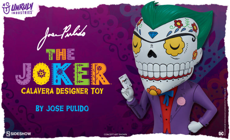 Unruly Industries The Joker Calavera Designer Toy