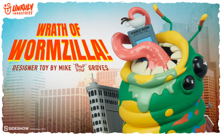 Unruly Industries Wrath of Wormzilla! Designer Toy