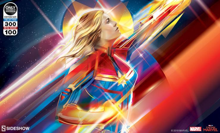 Higher, Further, Faster Captain Marvel Fine Art Print