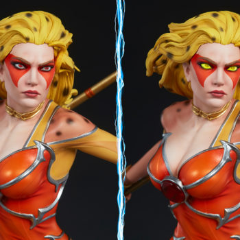 Cheetara Statue with Light Up Eyes
