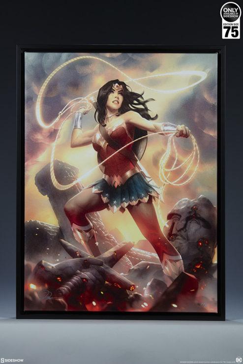 Wonder Woman Framed Gallery-Wrapped Canvasby artist Alex Garner