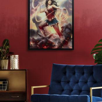 Wonder Woman Gallery-Wrapped Canvasby artist Alex Garner