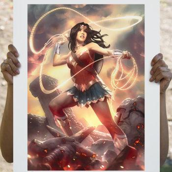 Wonder Woman Fine Art Print by Alex Garner