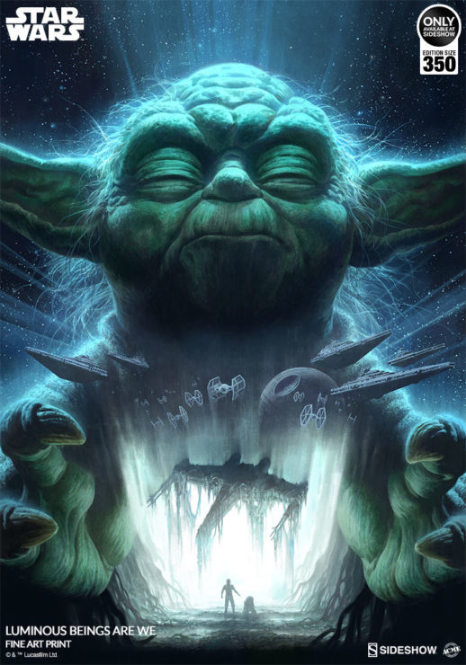 Feel the Force of the Luminous Beings Are We Fine Art Print and Gallery Wrapped Canvas by Fabian Schlaga