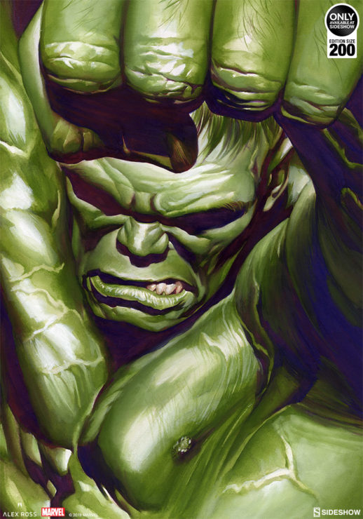 The Omega Hulk Fine Art Lithograph By Alex Ross Brings Gamma to Your Gallery