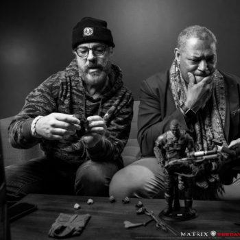 Laurence Fishburne Visits Sideshow Studios