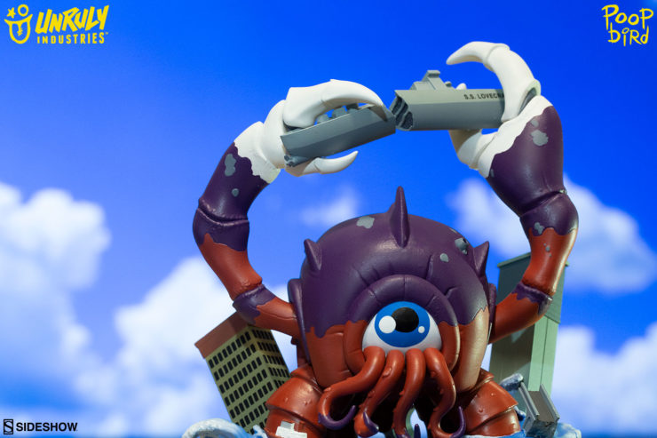 """Crabthulu, Terror of the Deep! Designer Toy by Mike """"Poopbird"""" Groves"""