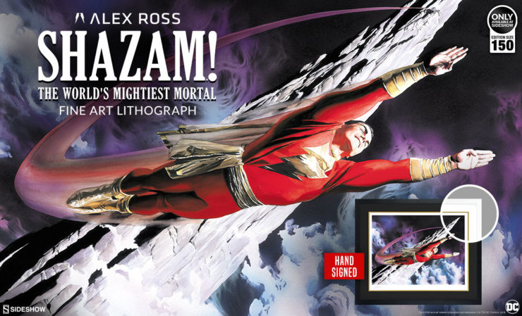 Alex Ross Shazam Fine Art Lithograph