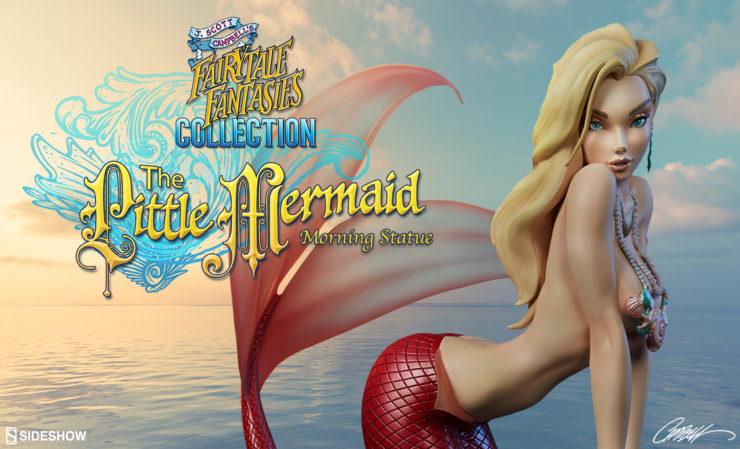 The Little Mermaid Morning Statue