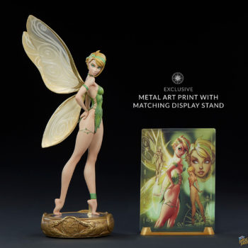 Tinkerbell Statue with Metal Exclusive Art Print