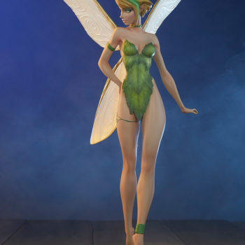 Tinkerbell Statue inspired by J. Scott Campbell's artwork, dramatically lit shot