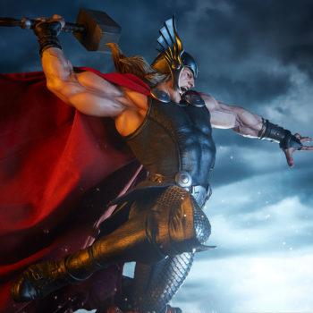 Thor: Breaker of Brimstone Premium Format™ Figure Drama Shot Side View