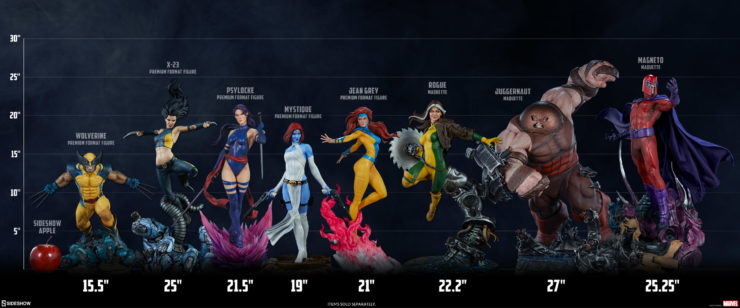X-Men Collection Full Scale Lineup featuring Jean Grey Premium Format™ Figure
