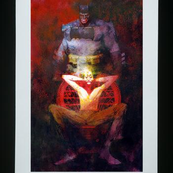 Dark Knight Returns: The Last Crusade Fine Art Lithograph by Bill Sienkiewicz