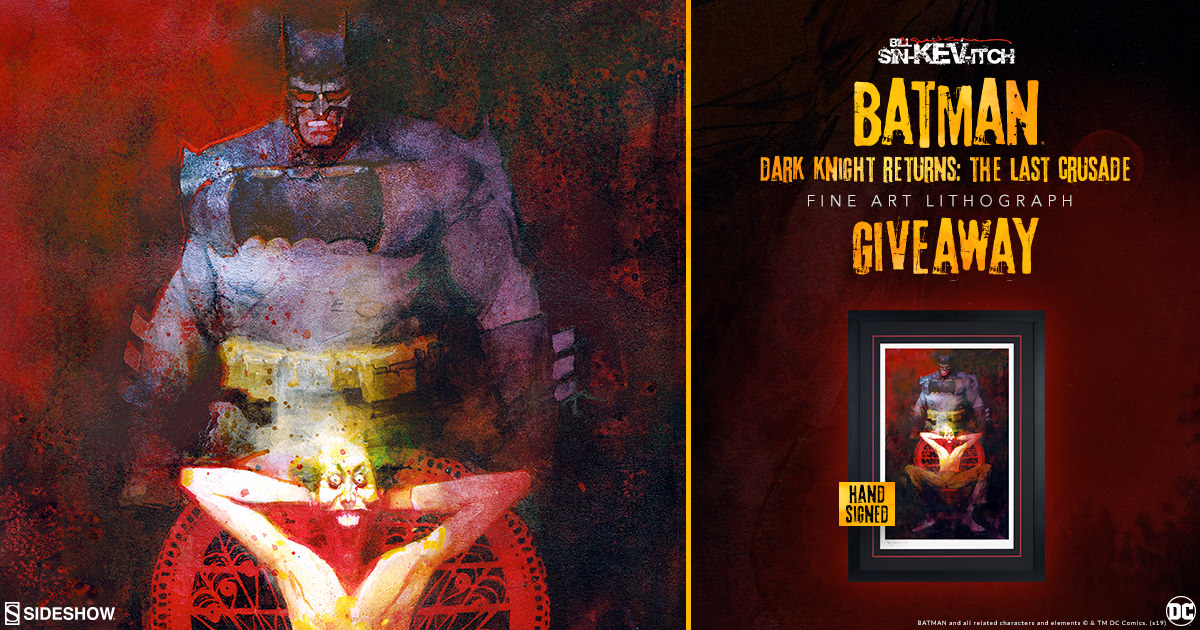 Bill Sienkiewicz Batman Fine Art Lithograph Giveaway