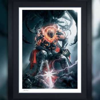 Ultron Annihilation: Conquest Fine Art Print by Aleksi Briclot Black Framed Edition