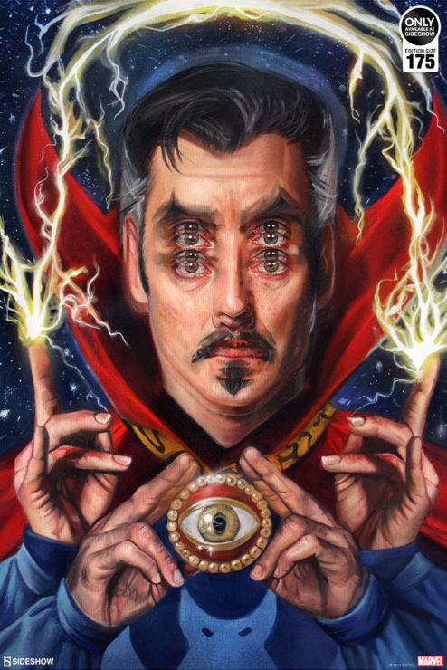 See Beyond Reality with the Doctor Strange: Open Your Eyes Fine Art Print by Alex Garant