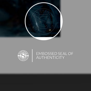 Unframed Print Embossed Seal of Authenticity