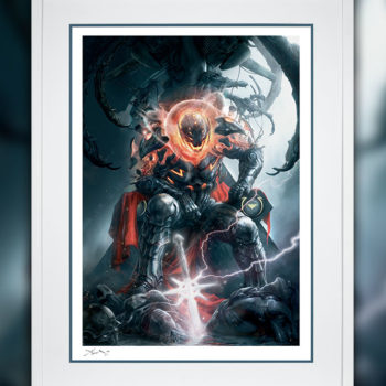 Ultron Annihilation: Conquest Fine Art Print by Aleksi Briclot White Framed Edition