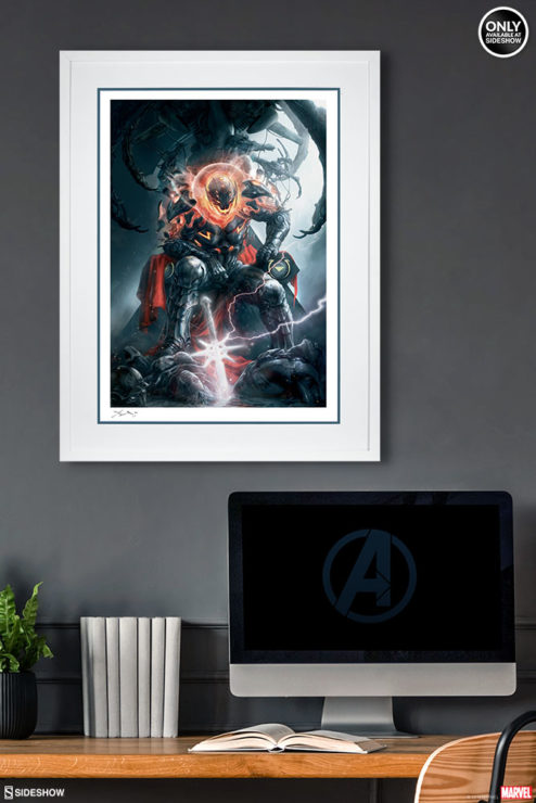Ultron Art Print White Framed Drama Shot