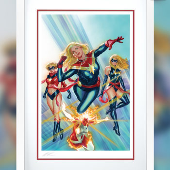 Captain Marvel #1 Fine Art Lithograph by Alex Ross