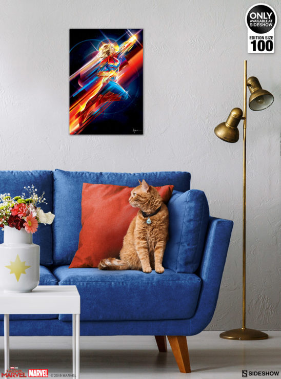 Higher, Further, Faster (Captain Marvel) Fine Art Print by Orlando Arocena