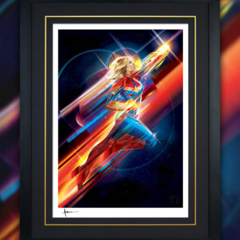 Higher, Further, Faster (Captain Marvel) Fine Art Print by Orlando Arocena