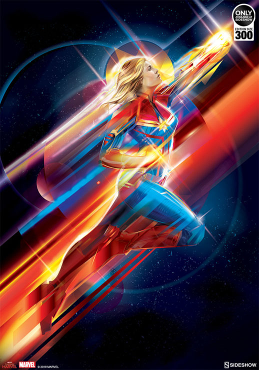 Orlando Arocena's Captain Marvel Fine Art Print Takes Your Collection Higher, Further, Faster