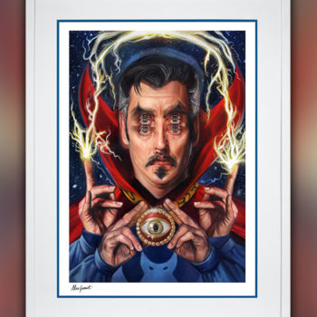 Doctor Strange: Open Your Eyes Fine Art Print by Alex Garant, Queen of Double Eyes