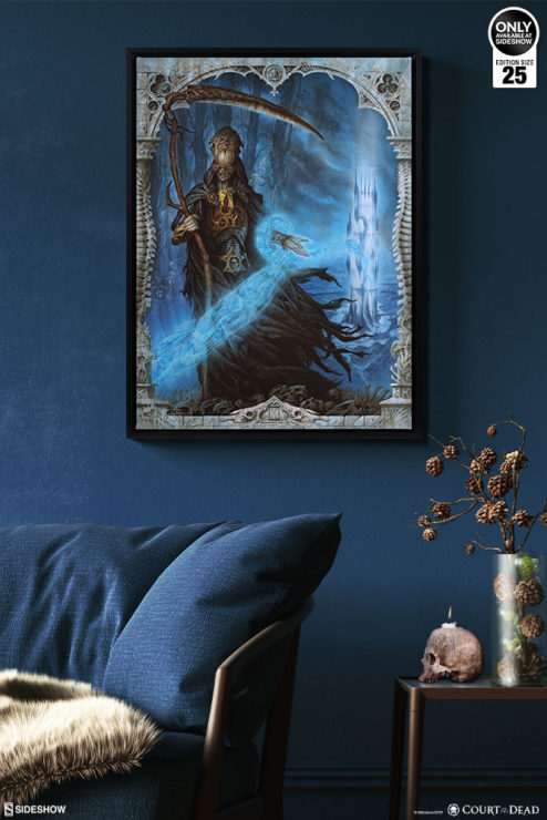 Death Welcomes You Gallery Wrapped Canvas