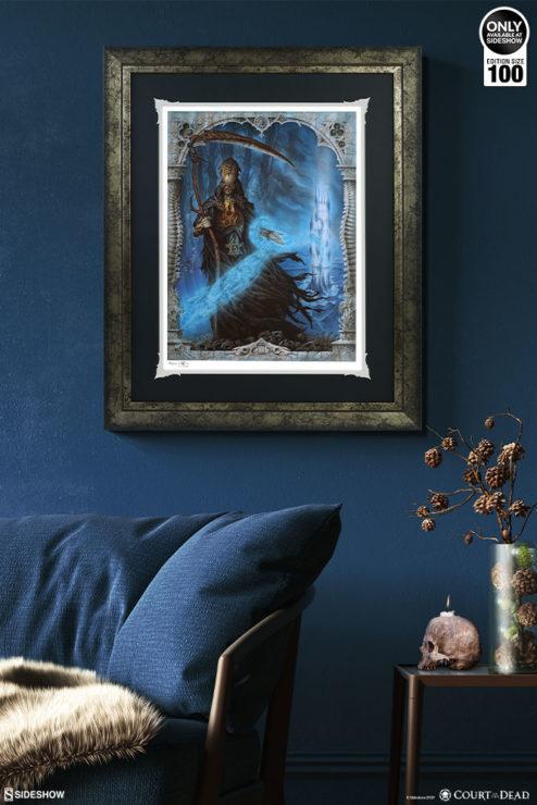 Death Welcomes You Fine Art Print by Milivoj Ceran