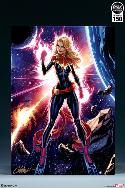 Captain Marvel HD Aluminum Metal Art Print by J. Scott Campbell