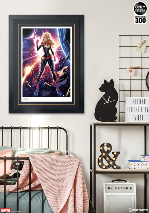 Captain Marvel Fine Art Print by J. Scott Campbell