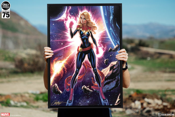 Captain Marvel Gallery Wrapped Canvas by J. Scott Campbell