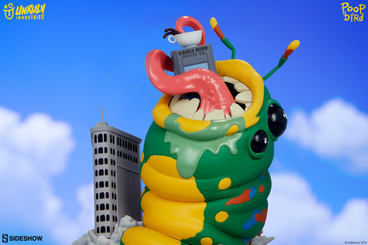 """Wrath of Wormzilla! Designer Toy by Mike """"Poopbird"""" Groves"""