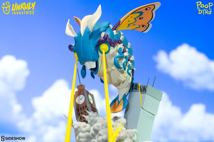 """Invasion of the BeheMOTH! Designer Toy by Mike """"Poopbird"""" Groves"""