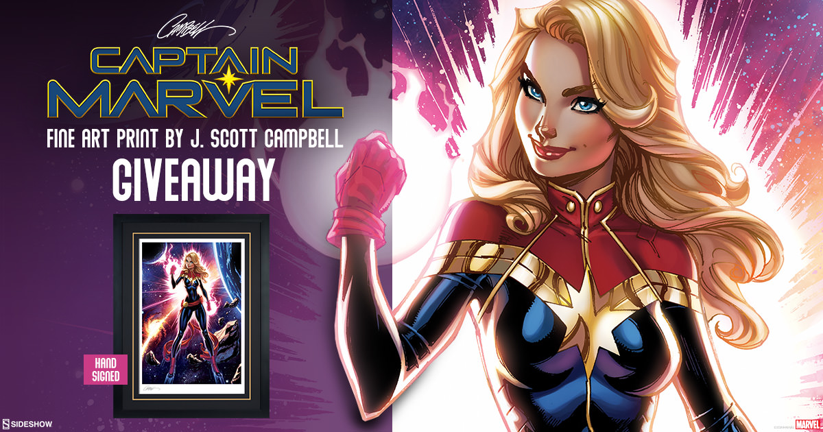 Captain Marvel Art Print Giveaway