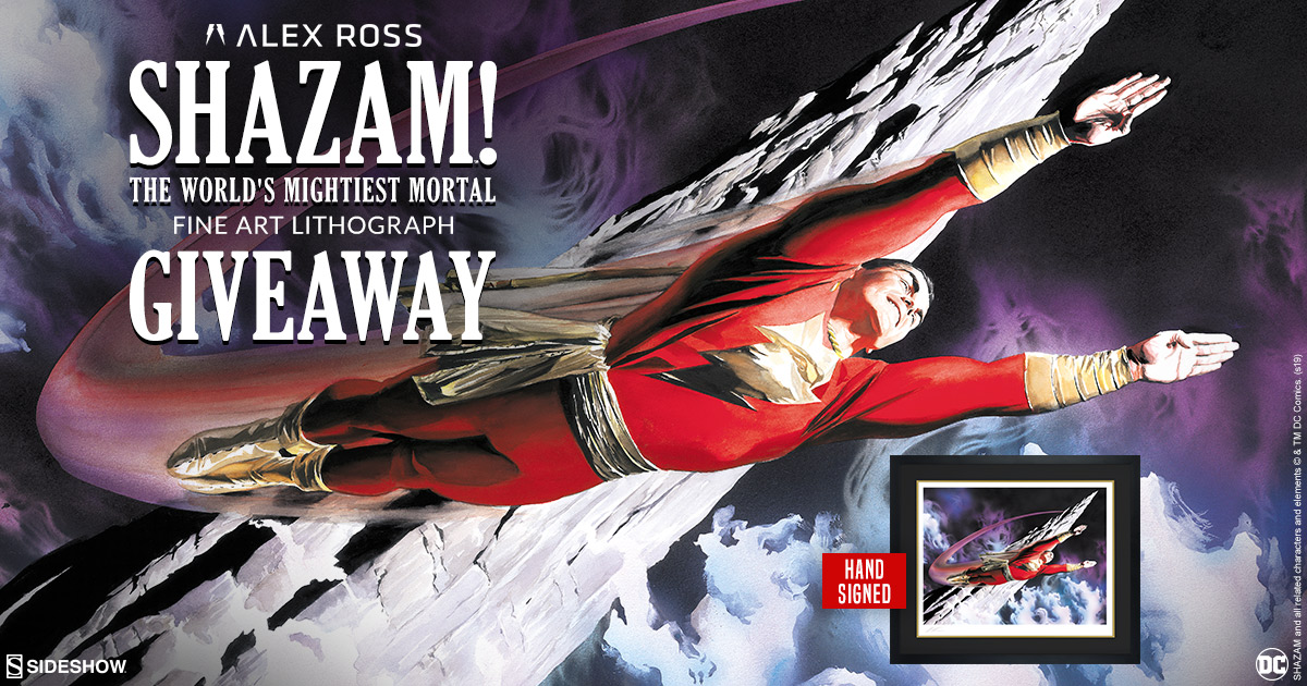 Alex Ross Shazam Lithograph Giveaway!