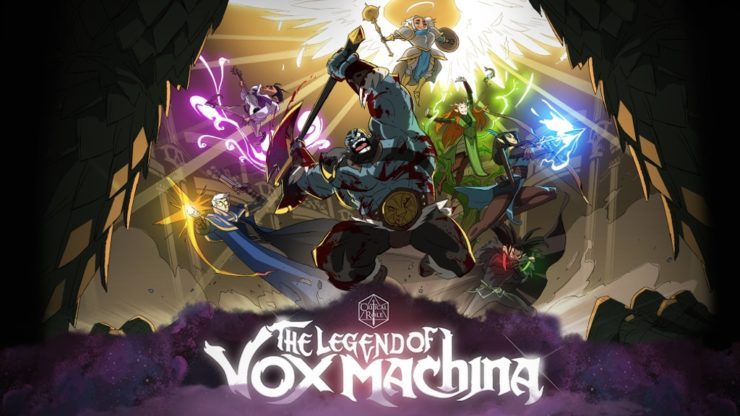 Critical Role The Legend of Vox Machina Animated Intro Card