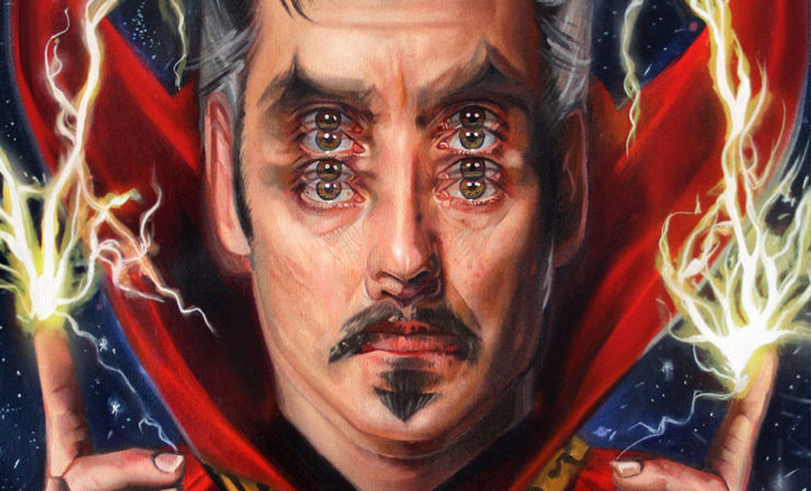 "The ""Queen of Double Eyes"" Alex Garant Offers a Unique Perspective in Her Doctor Strange Fine Art Print"