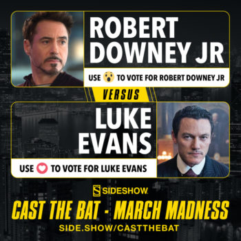 Cast the Bat- March Madness Round One Robert Downey Jr. vs Luke Evans