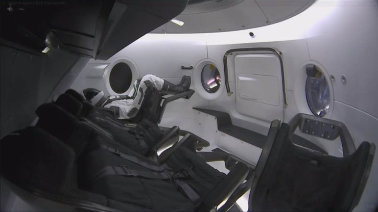 "SpaceX Crew Dragon Launch Outfitted With ""Ripley"" Test Dummy"