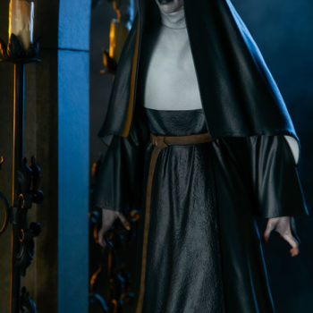 Dramatic Lit Shot 2 of The Nun Statue from the Conjuring Universe