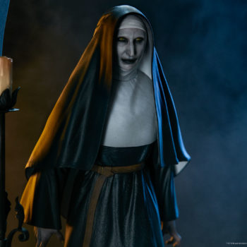 Portrait Closeup of The Nun Statue from the Conjuring Universe