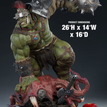 "Gladiator Hulk Maquette measurements- 26"" H x 14"" W x 16"" D"